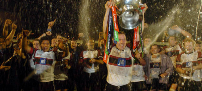 The Ospreys celebrate their first Celtic League title